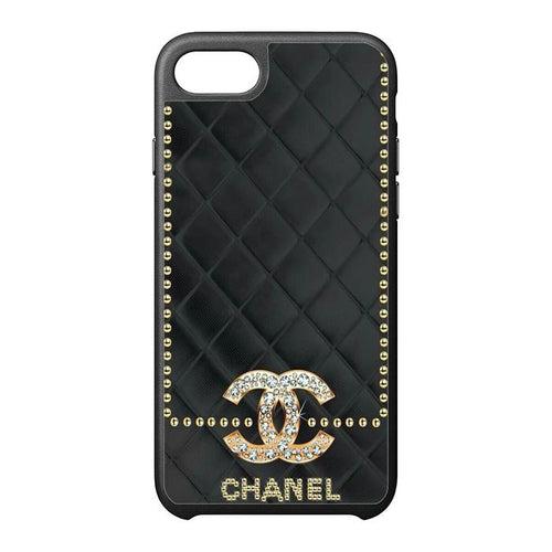 Chanel Black Leather iPhone Case