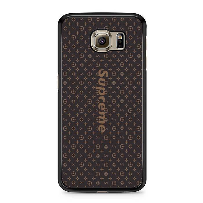 brown louis vuitton supreme Samsung Case