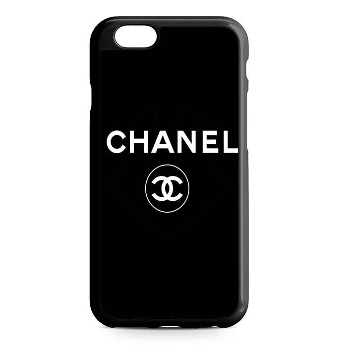 chanel black logo iPhone Case