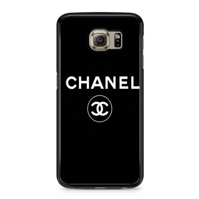 chanel black logo Samsung Case