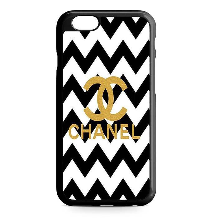 chanel black white iPhone Case