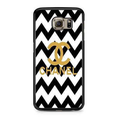 chanel black white Samsung Case