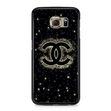 chanel bling black Samsung Case