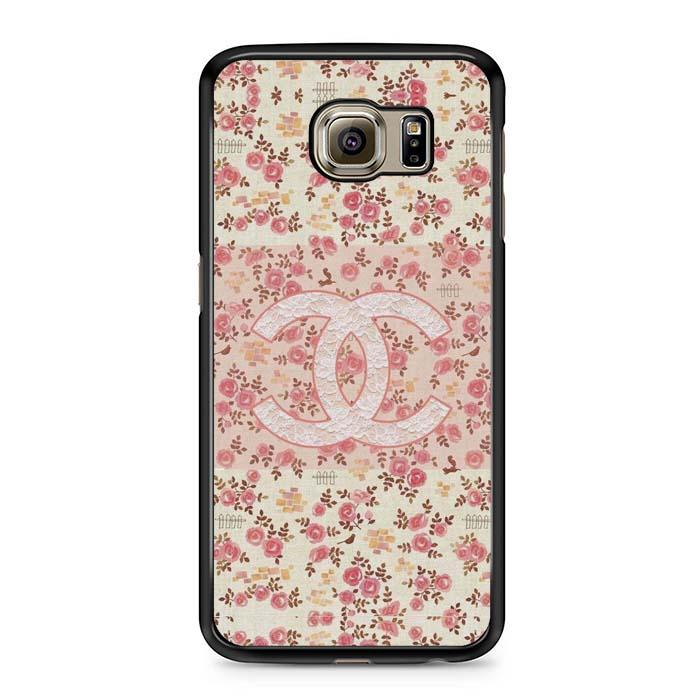 chanel pink flower Samsung Case
