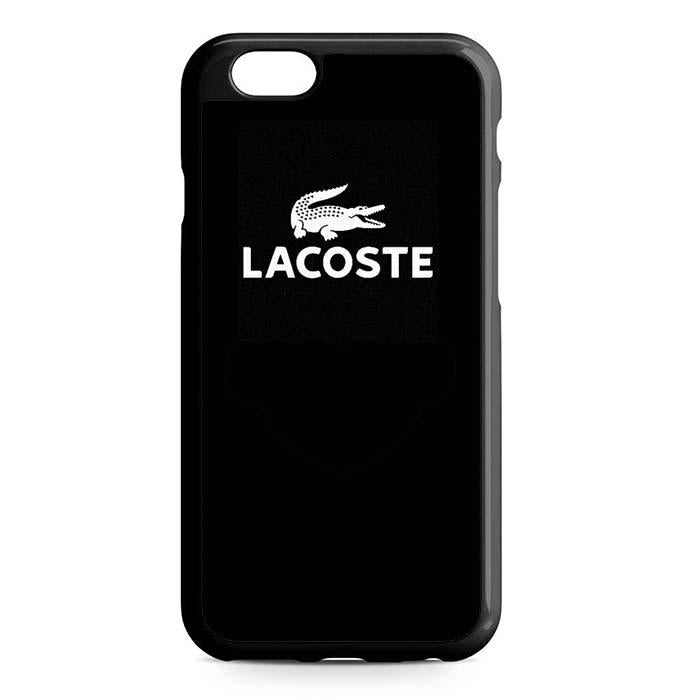 lacoste logo black iPhone Case