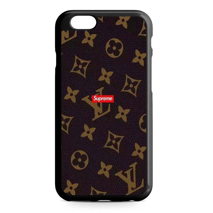 louis vuitton supreme brown iPhone Case