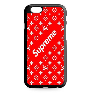 louis vuitton supreme red iPhone Case