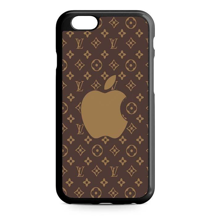 luis vuitton brown apple iPhone Case