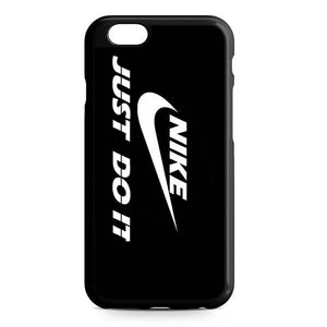 nike logo black iPhone Case