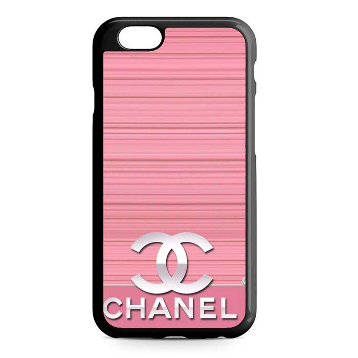 pink chanel logo iPhone Case