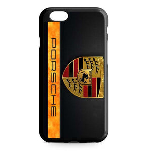 porsche black logo iPhone Case