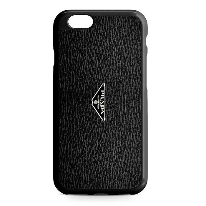 prada logo black iPhone Case