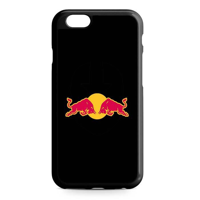 red bull black iPhone Case