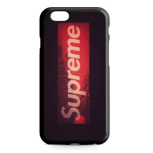 supreme red logo iPhone Case