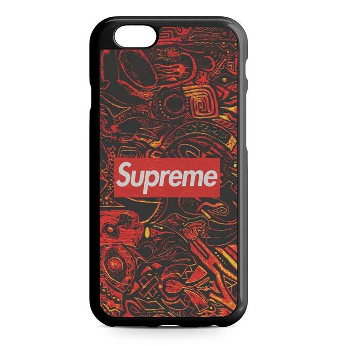 supreme red pattern iPhone Case