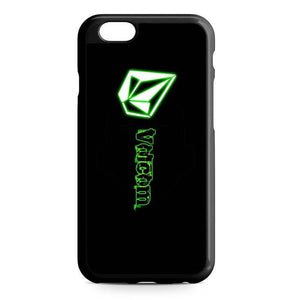 volcom black iPhone Case