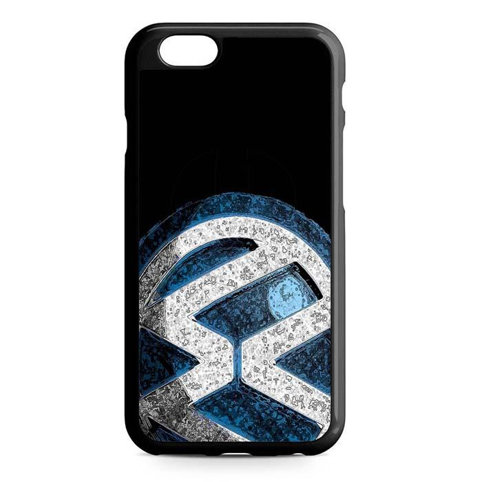 volkswagen logo black iPhone Case