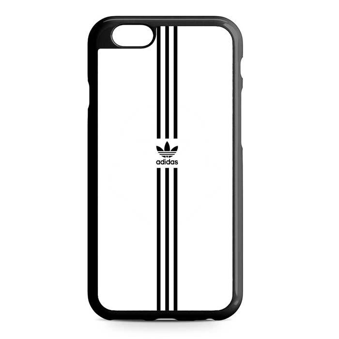white logo adidas iPhone Case