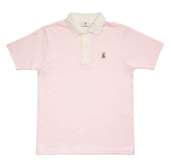 ACVI ONE POINT POLO SHIRTS PINK