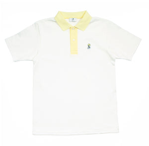 ACVI ONE POINT POLO SHIRTS WHITE
