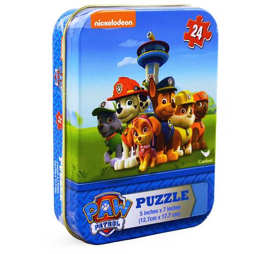 Paw Patrol 24-Piece Puzzle in Tin
