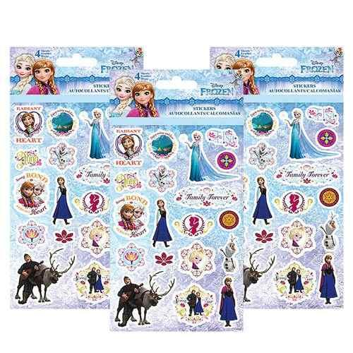 Disney Frozen Sticker Sheets [3 Packs of 4 Sheets Ea]