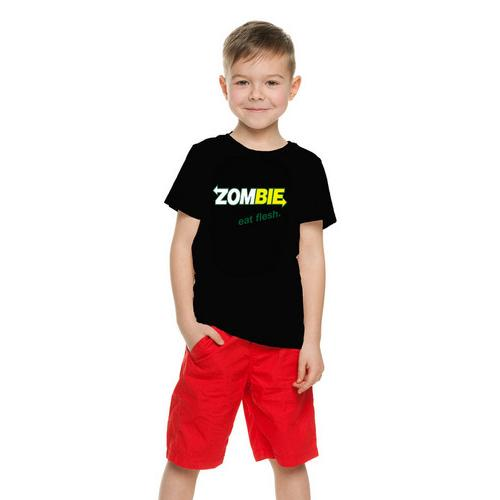 Halloween Zombie Eat Flesh-Funny Kids T-Shirt