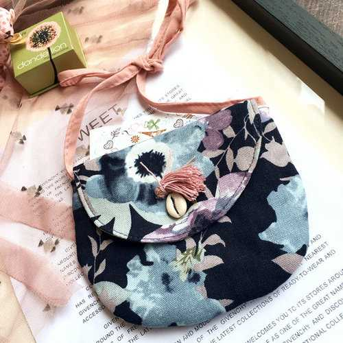 1-3 Years Old Children Lovely Floral Canvas Crossbody Bay Garden Travel Handbag