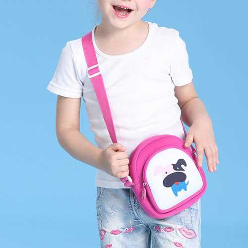 Kindergarten Children Girls Lovely Cartoon Crossbody Bag Outdoor Travel Shoulder Bag