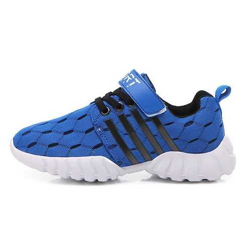 Unisex Kids Mesh Breathable Suspension Hiking Sneakers