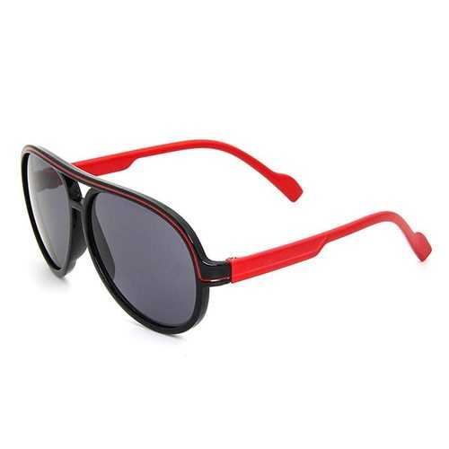 Kids Fashion Round Frame Polarized Sungalsses  Outdoor Sports Anti-UV  HD Lens Sunglasses