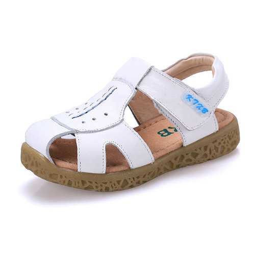 Boys Breathable Soft Leather Hiking Beach Sandals