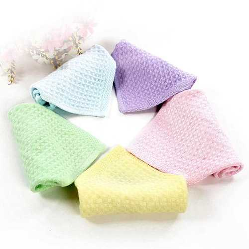 TUBENG Soft Baby Plaid Solid 5 Pcs Kerchief