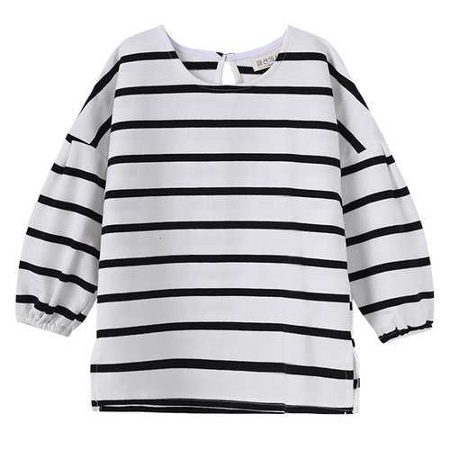 Black and White Stripe Girls T-Shirts