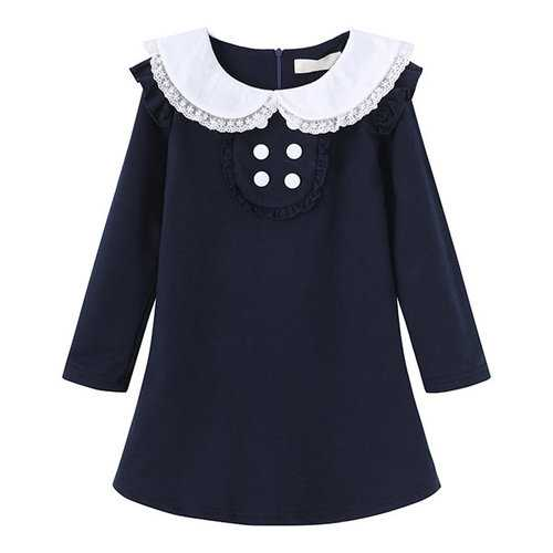 Baby Girls Long Sleeve School Dress