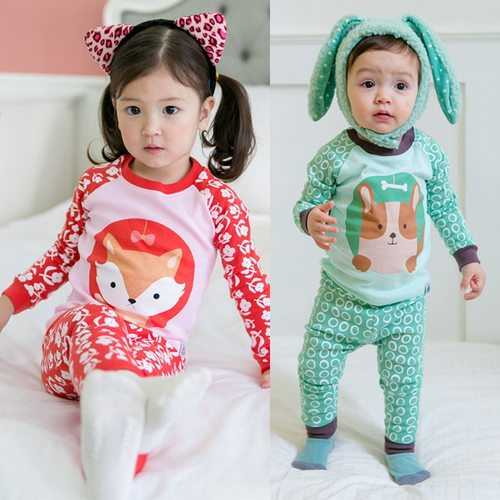 Cute Animal Printed Kids Pajamas