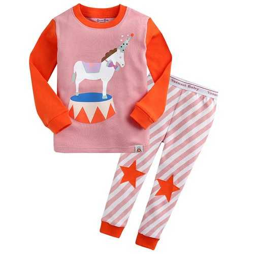 Cute Circus Printed Kids Pajamas