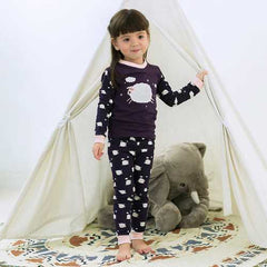 Sheep Print Kids Girls Pajama Set