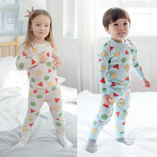 Geometric Print Boys Girls Pajama