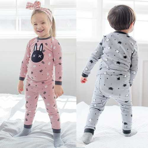 Cat Print Boys Girls Pajama Set
