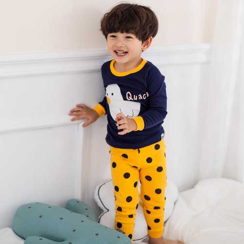 Duck Print Boys Girls Pajama Set