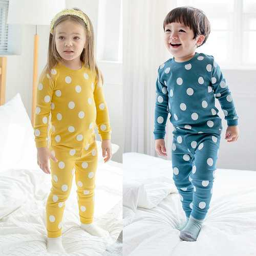 Polka Dot Print Boys Girls Pajamas