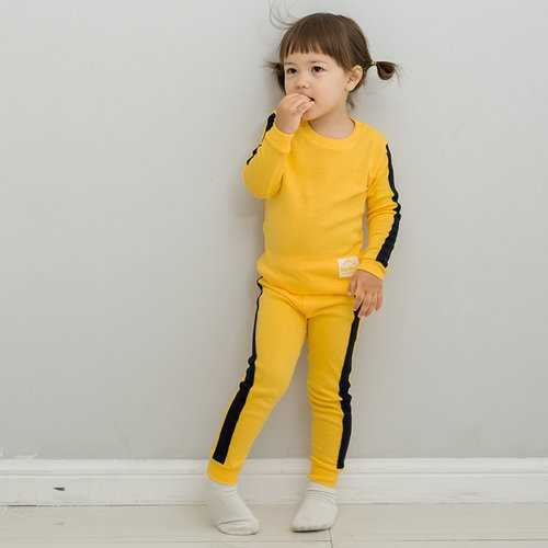 Yellow Boys Girls Pajama Set