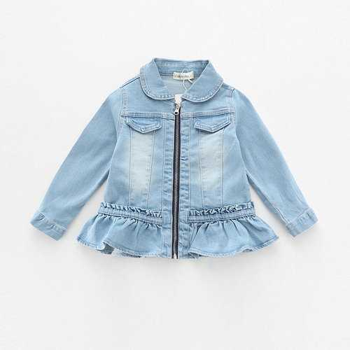 Ruffles Girls Denim Coat
