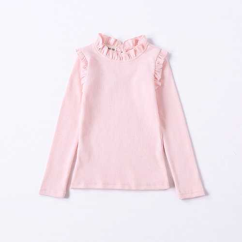 Candy Color Ruffles Girls Tops