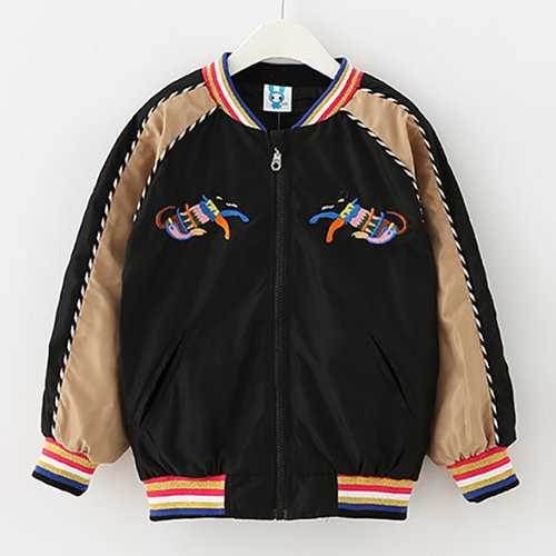Girls Embroidery Baseball Jackets