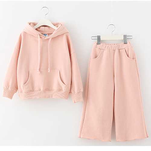 Girls Spring Hoodie + Pants Suit