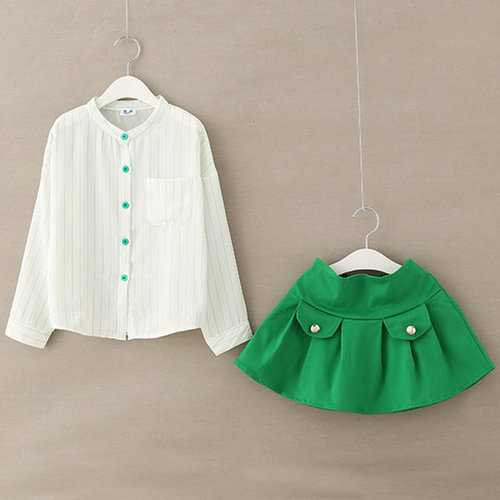 Girls T-Shirt + Mini Skirt Suit