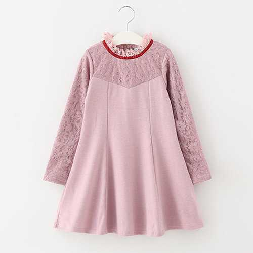 Pink Patchwork Dresses for Girls
