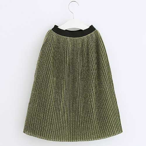 Girls Casual Party Pleated Skirts